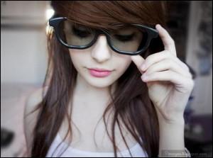 Beauty, preety, girl, cute, glasses