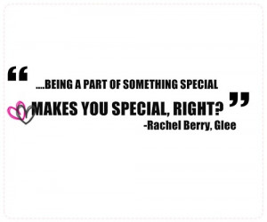 glee, quotes, rachel berry, special