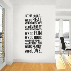 Family Love Fun Wall Art Sticker Words Letters Vinyl Wall Decals Wall ...