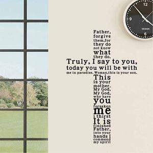 ... -Christian-Cross-Vinyl-quotes-decals-pray-wall-art-bedroom-stickers