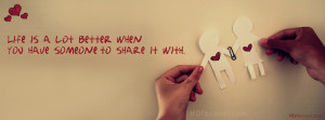 Share Love with someone quotes Facebook cover photo for profile ...