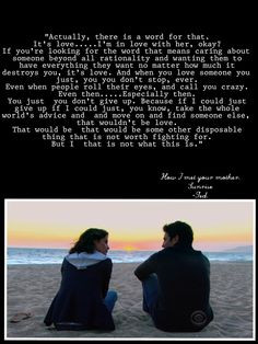 How I met your mother. Sunrise, season 9. - Himym quotes - Ted quotes ...