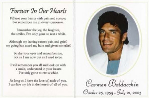 In Loving Memory of Carmen Baldacchin
