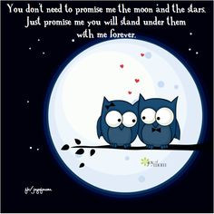 You don't need to promise me the moon and the stars. Just promise me ...