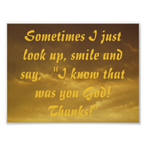 know that was you god christian quote poster