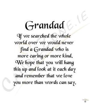 Grandad Poems
