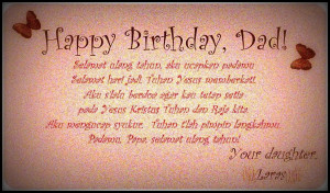 Birthday Quotes For Daddy From Daughter ~ Happy Birthday Daddy Quotes ...