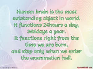 Human brain is the most outstanding object in world...