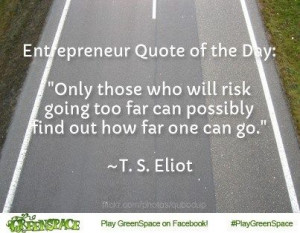 Entrepreneur quote about risk taking