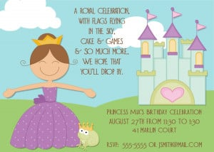 NEW! Prince and Princess Invitations and Party Favor Tags