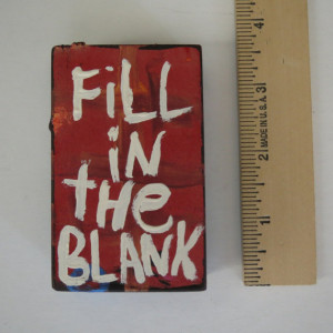 Fill in The Blank Quote Painting small Wood Block Word Art - Handmade ...
