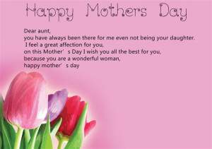 ... Happy Mother's Day Card Sayings For Aunt Will Help You To Share