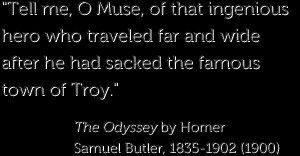 By homer, the trojan war that The Odyssey Quotes Odysseus father