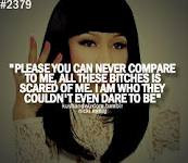 please you can never compare me,