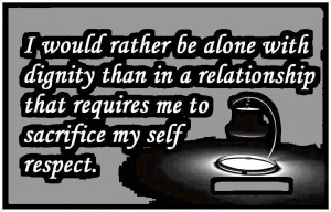would rather be alone . . .