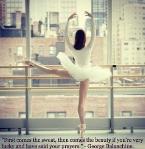 George Balanchine is an inspiration