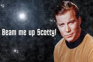 Collectable Star Trek Captain Kirk Quote Fridge Magnet