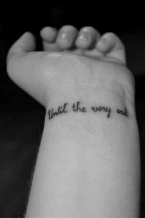 Female Quotes Tattoo on Wrist