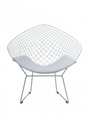 Harry Bertoia Wire Side Chair White Cushion