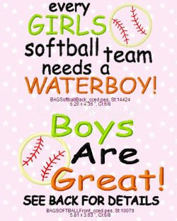 Softball Girls And Water Boys