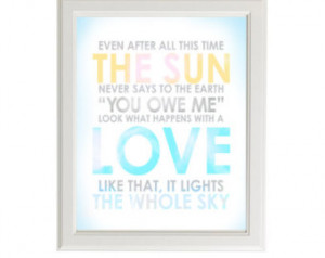Hafiz Inspiring Love Quote 8x10 Art Print – Even After All This Time ...