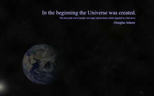 quotes douglas adams earth the hitchhikers guide to the galaxy ...