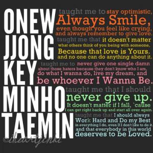 jonghyun, key, minho, onew, quotes, shinee, taemin