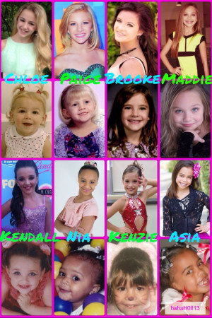 Dance Moms collage by hahaH0ll13. Look how they've all grown up! Chloe ...