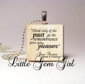 Jane Austen Quote Necklace Pendant Pride and by LittleGemGirl, $8.00