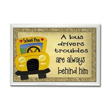 School Bus Driver Rectangle Magnet for