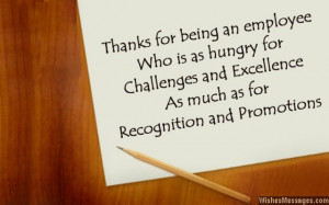 Thank you messages for employees: Thank you notes to show appreciation