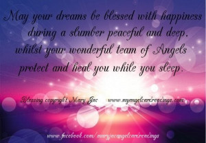 ... with Happiness during a slumber Peaceful and deep ~ Blessing Quote