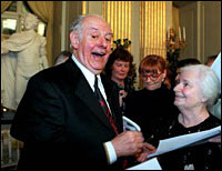 Dario Fo receives the Nobel Prize
