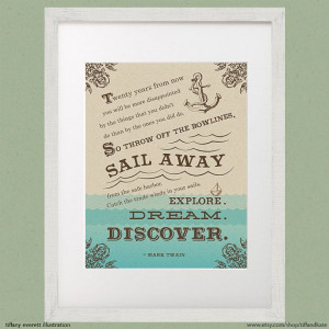 Literature Quote poster art print children's room decor inspirational ...