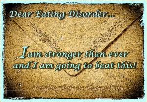Dear Eating Disorder ,