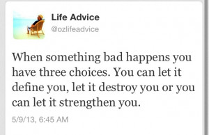 You have 3 choices