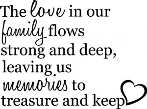 Love in our family Memories Decor vinyl wall decal quote sticker ...