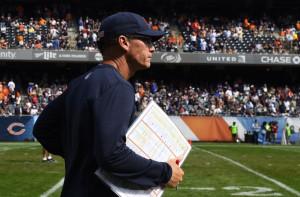 Sep 28, 2014; Chicago, IL, USA; Chicago Bears head coach Marc Trestman ...