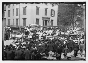 1908 Labor Day Parade, float of Women's Trade Union League, New York