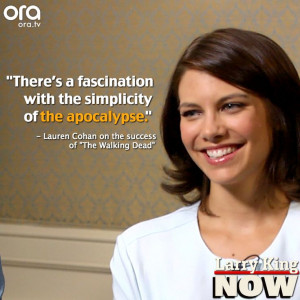 Lauren Cohan talks TheWalkingDead on LarryKingNow