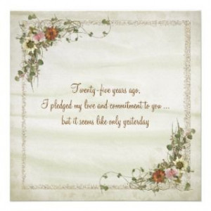 vow renewal custom announcements 25th wedding anniversary quotes funny ...