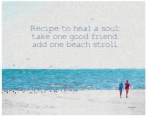 Inspirational Beach Quote Seashore Coastal Girlfriends Glicee Print ...