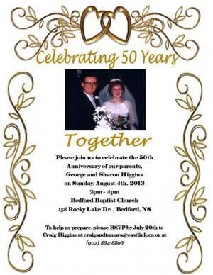 George and Sharon – 50th Wedding Anniversary Invitation