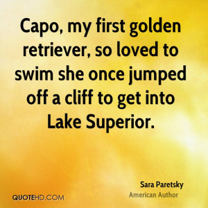 Capo, my first golden retriever, so loved to swim she once jumped off ...
