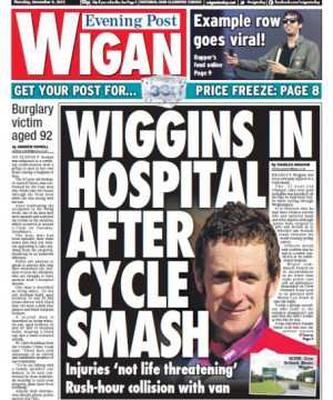 ... Smith who had rushed to the cyclist's aid, with her quotes widely