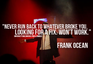 Frank Ocean Quotes About Love Frank ocean love quotes tumblr