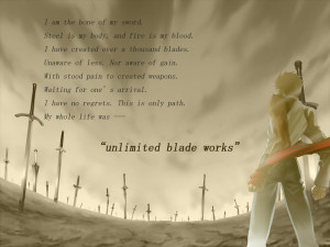 fatestay night quotes unlimited blade works blade emiya shirou swords ...