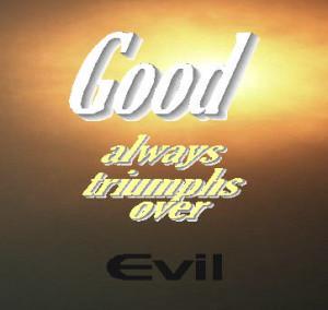 good over evil