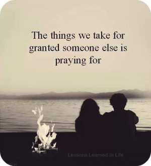 The things we take for granted