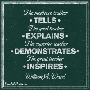 The mediocre teacher tells. The good teacher explains. The superior ...